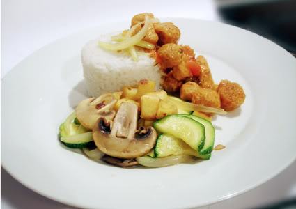 soy chunk with vegetables