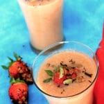 Chai Smoothie, Spiced tea strawberry banana smoothie