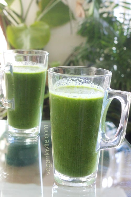 spinach smoothie, flu buster