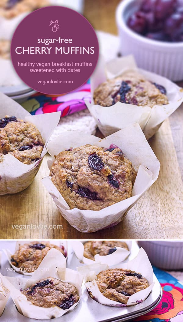 Cherry Sugar Free Muffins, healthy breakfast muffins