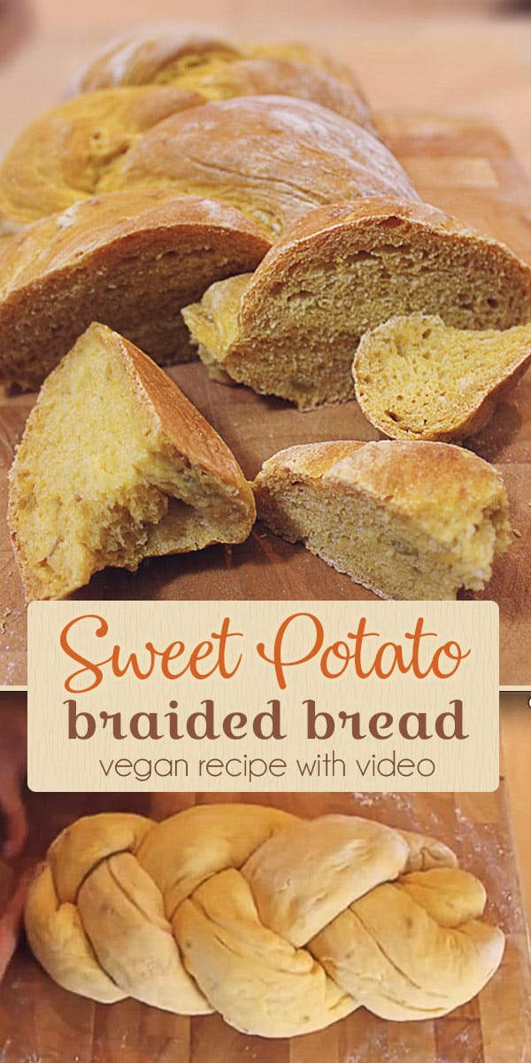 Sweet potato bread, braided bread recipe