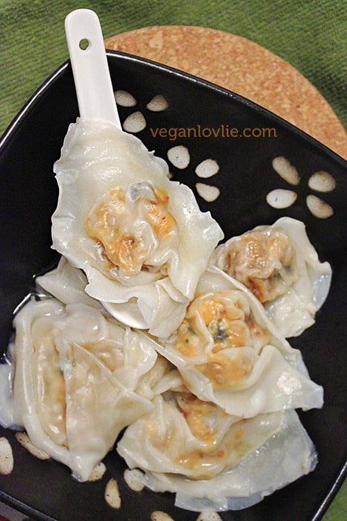 Vegan Wonton Recipe -  Sweet Potato & Tofu Wontons