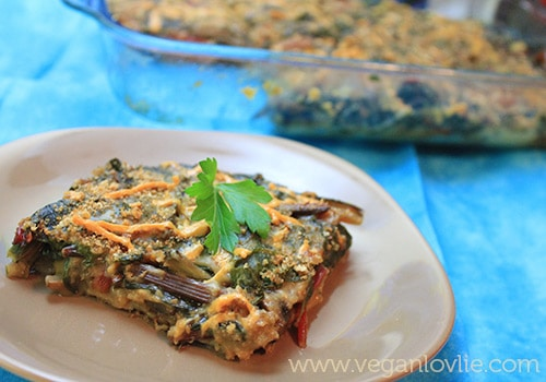 Vegan Swiss Chard Gratin Recipe