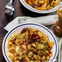 Tagliatelle Pasta with Artichoke Hearts and Lentils