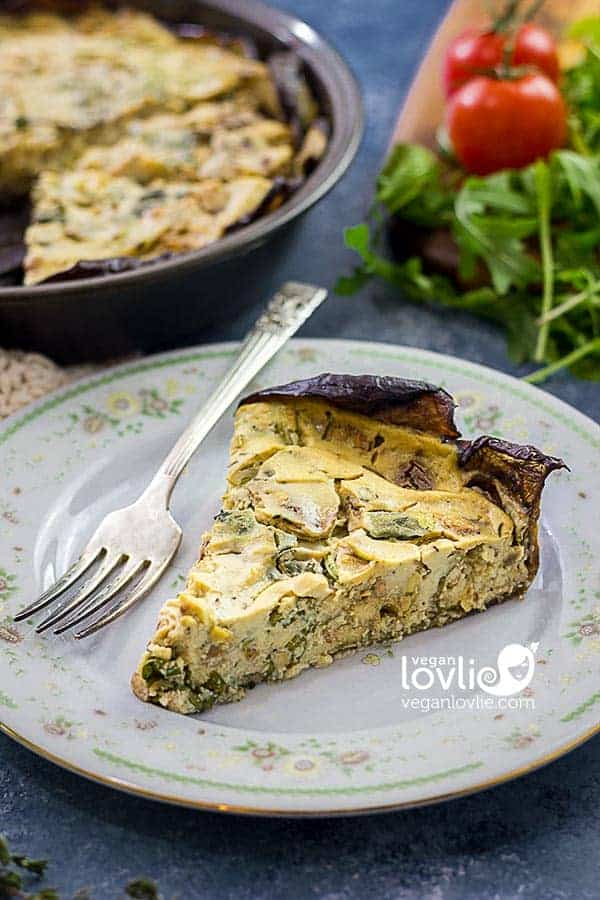 Smoky Tempeh Crustless Quiche