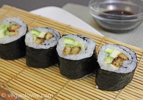 tempeh vegan sushi