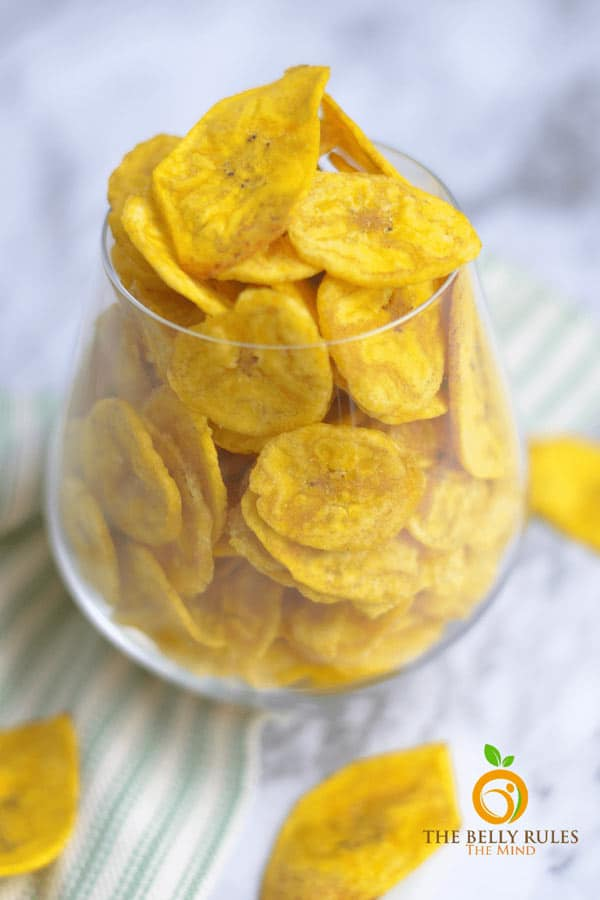 Healthy Plantain Chips from The Belly Rules The Mind