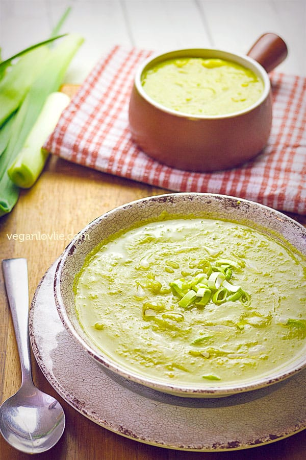 Pressure Cooker Turmeric Potato and Leek Moong Dal Lentil Soup Recipe