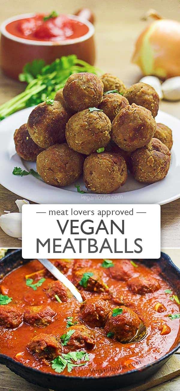 TVP Vegan Meatballs, Meatless Meatballs