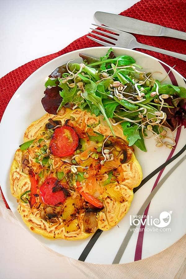 savoury pancakes, vegan pancake recipe, eggless pancake recipe, vegan pancakes recipe, vegetable pancakes