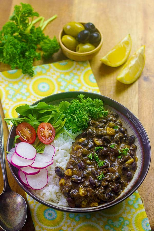 Pressure Cooker Black Bean Stew