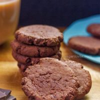 Vegan Chicory Mocha Chocolate Cookies