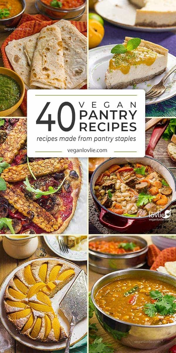 Vegan Pantry Recipes from Pantry Staples - Vegan Food List