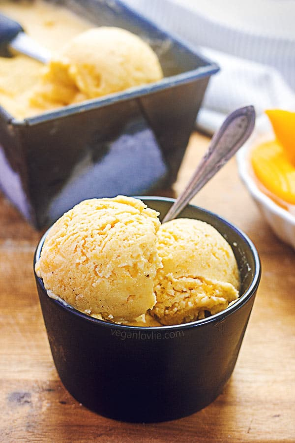 peach ice cream, vegan ice cream