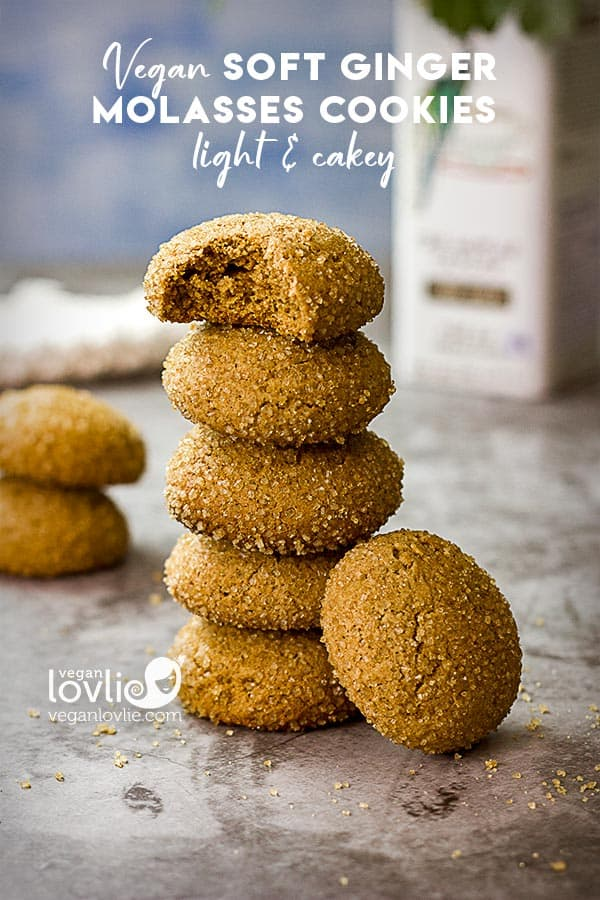Spiced vegan soft cakey cookies recipe
