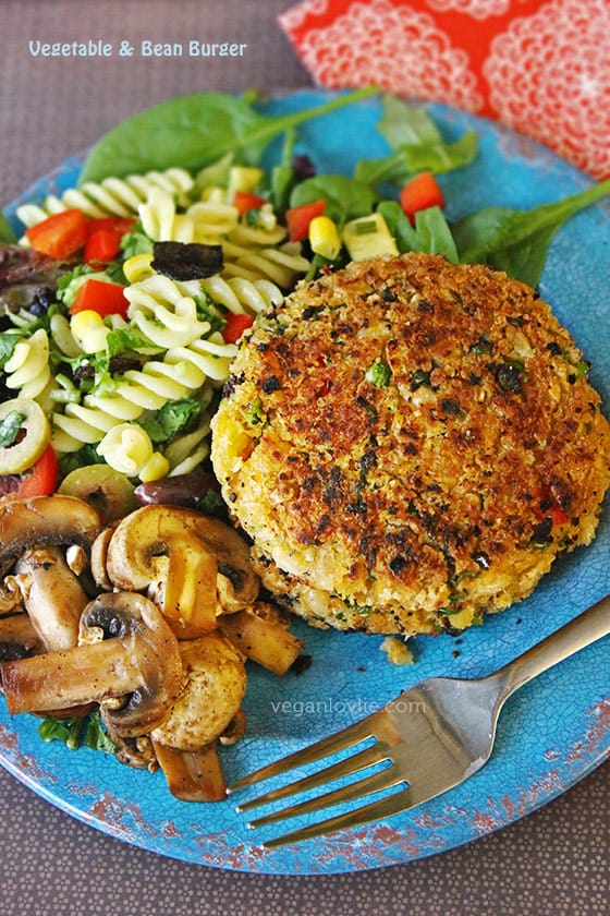 Vegetable bean burger