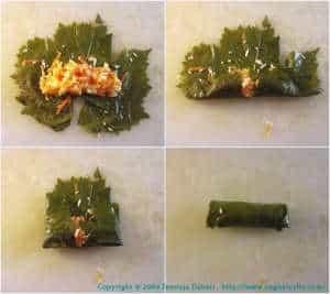 stuffed vine leaves,daring cooks challenge