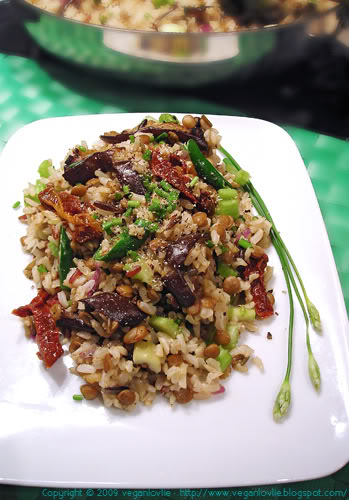 warm brown wild rice salad