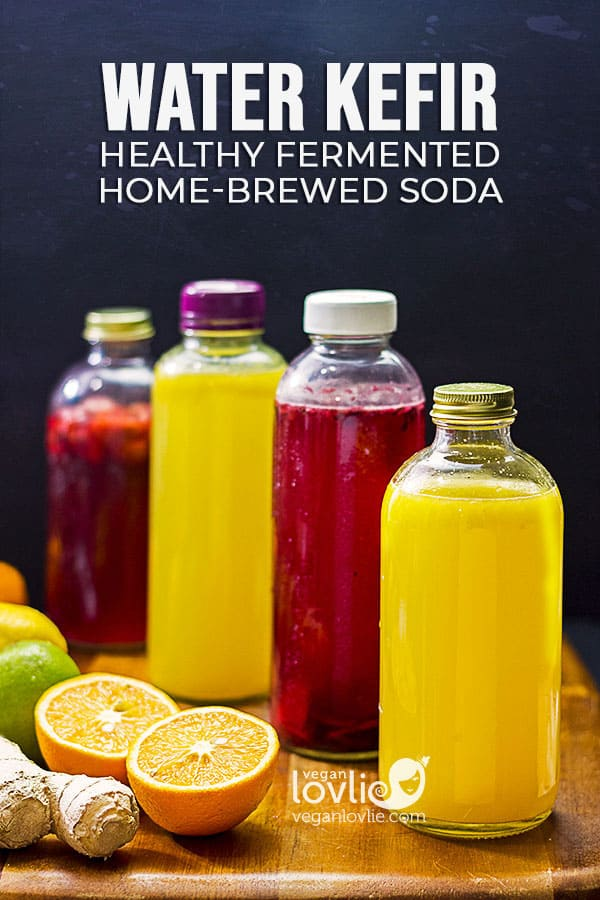 water kefir soda, homemade healthy low-sugar fruit flavoured soda