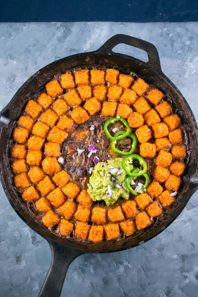 Sweet Potato Tater Tot Casserole (Hotdish) from Yup It's Vegan